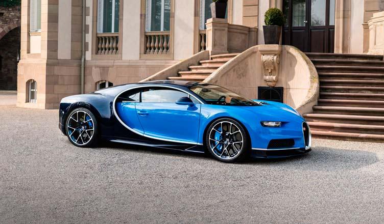 Bugatti Chiron: вид сбоку