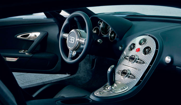 Салон Bugatti Veyron