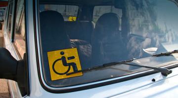 Знак Инвалид на автомобиле