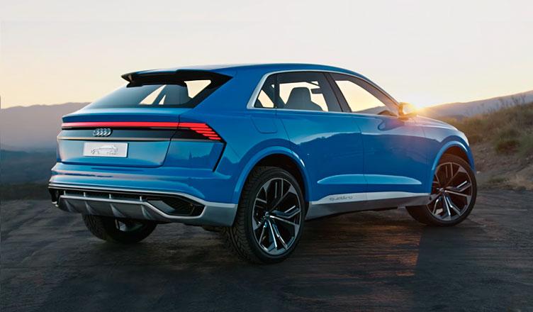 Audi Q8: вид сзади