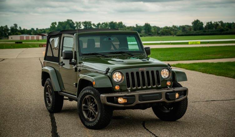 Jeep Wrangler трехдверный