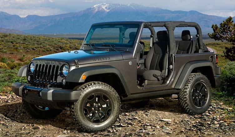 Трехдверный Jeep Wrangler