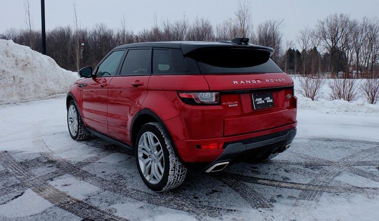 Range Rover Evoque 2016 вид сзади