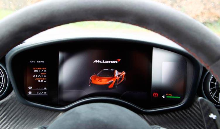 Дисплей McLaren P1