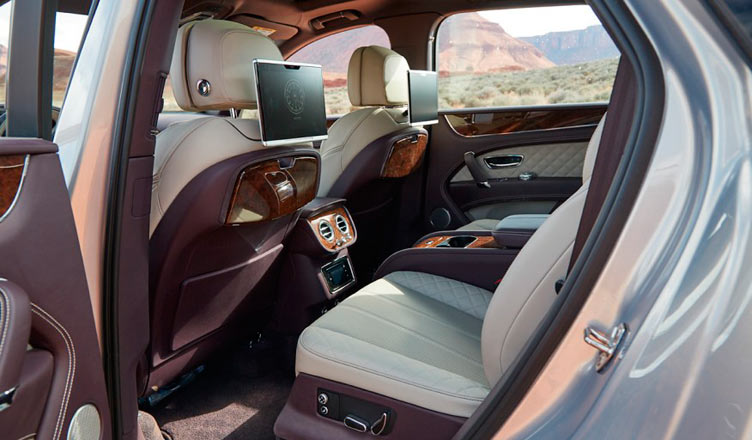 Задние сиденья Bentley Bentayga